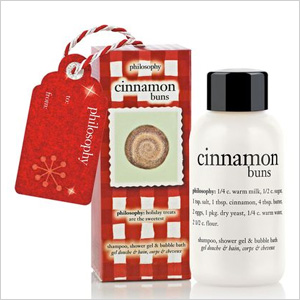 cinnamon buns shampoo, shower gel and bubble bath ornament