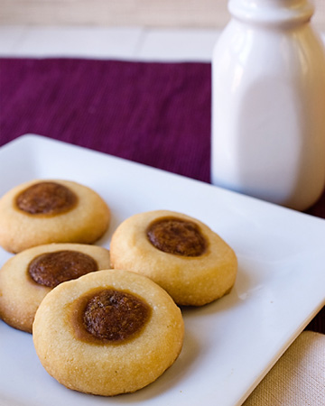 Biscoff thumbprint cookies