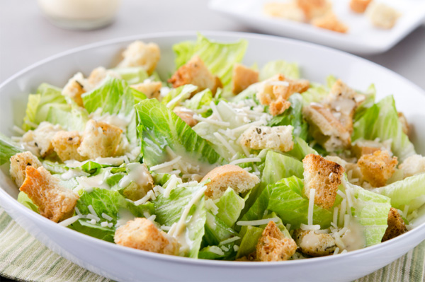 Even though a Caesar is a very simple salad to make, it adds ...