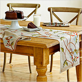 Autumn inspired table runner