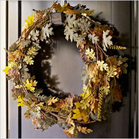 Faux oak wreath