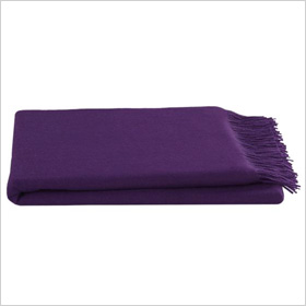 Purple throw