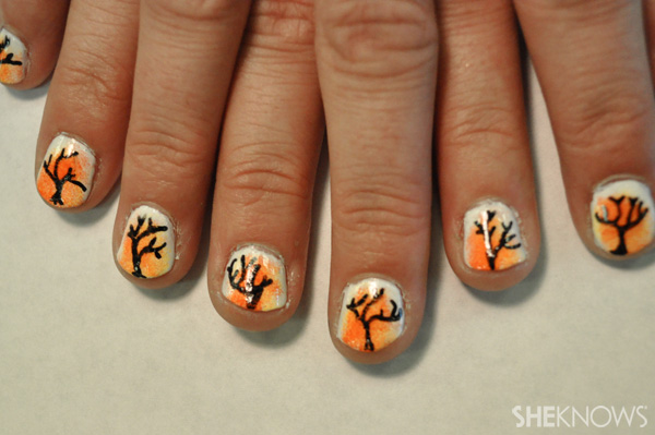 DIY Sunset nail design