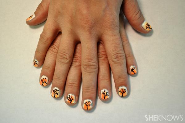 DIY Sunset nail design
