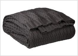 Cozy gray cotton blanket
