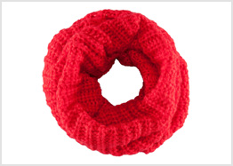 Cheery red tube scarf