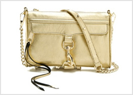 ebecca Minkoff metallic mini M.A.C. bag