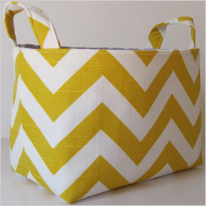 Chevron fabric storage
