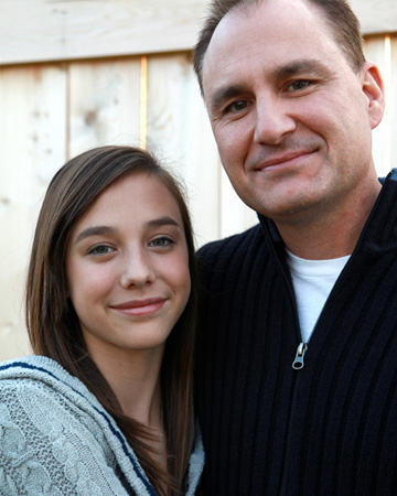 Tween daughter and father