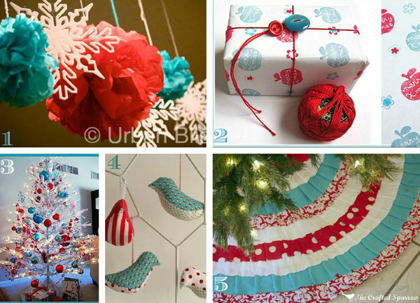 Red and Turquoise Holiday Color Scheme