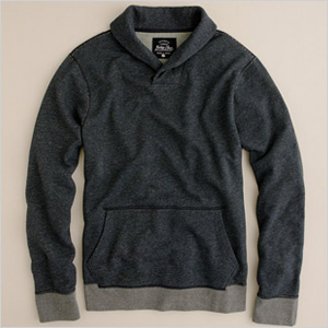 J. Crew Shawl Collar Sweatshirt