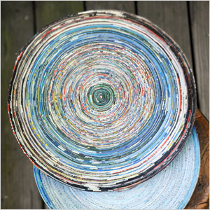 Recycled paper bowl