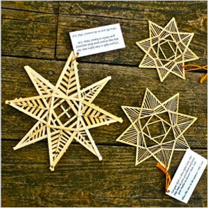 Bamboo stick star ornaments