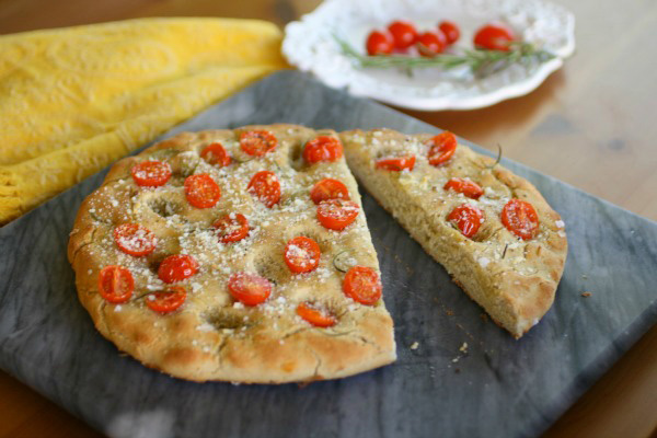 Cherry tomato focaccia