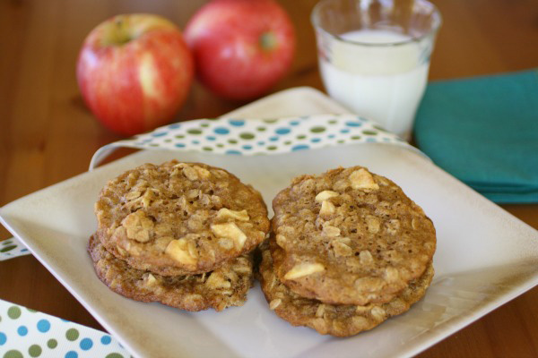 Gluten-free Oatmeal Apple Cookies