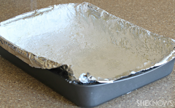 Line your baking dish