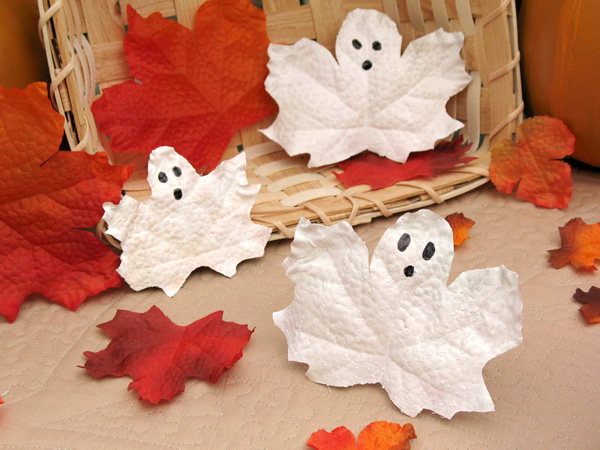Halloween Leaf Ghosts