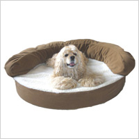 Orthopedic Bolster Personalized Dog Bed