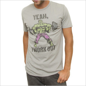 The Incredible Hulk I Work Out Vintage Tee