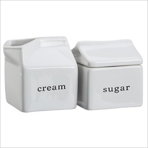 cream and sugar servers