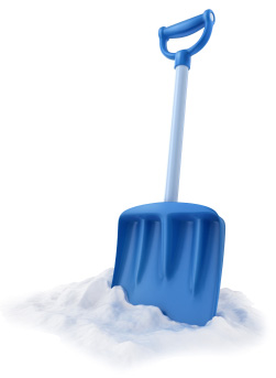 Blue snow shovel | Sheknows.com