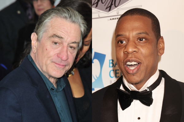 Jay-Z and Robert De Niro