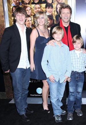 Jon Bon Jovi with his children
