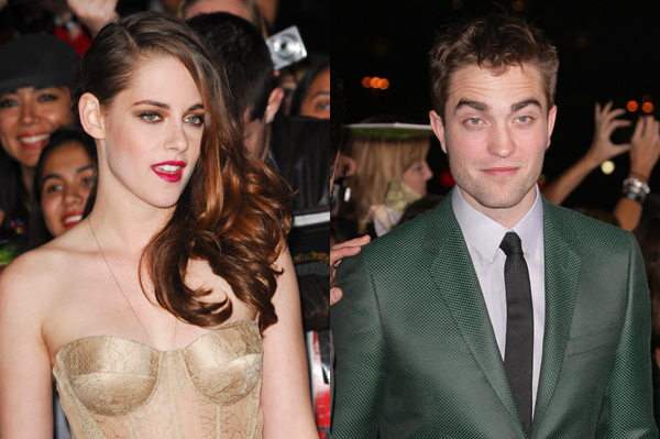 Robert Pattinson and Kristen Stewart at Breaking Dawn premiere