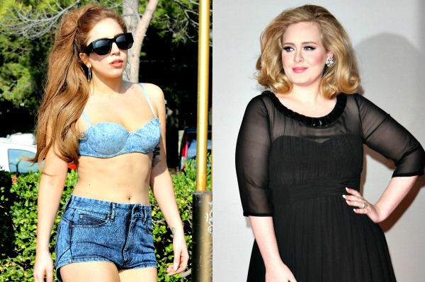 Lady Gaga and Adele