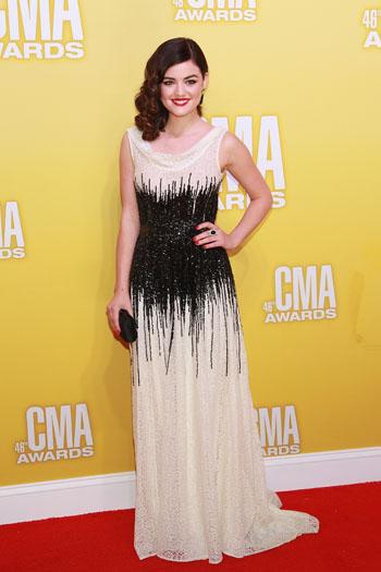 Lucy Hale - Best Dressed - 2012 CMA Awards