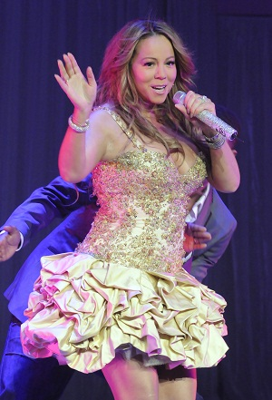 Mariah Carey performing