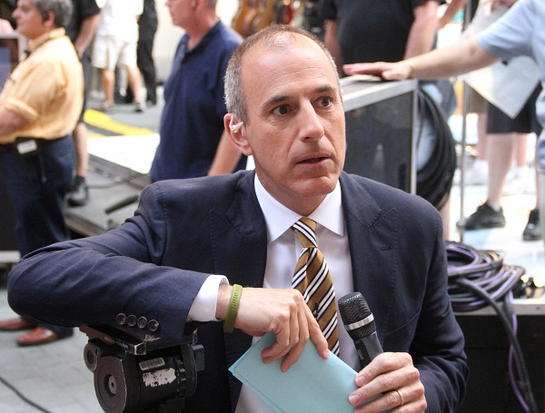 Matt Lauer looking annoyed. Is the end near for him?