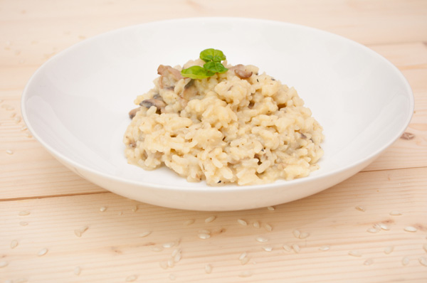 Mushroom and Walnut Risotto