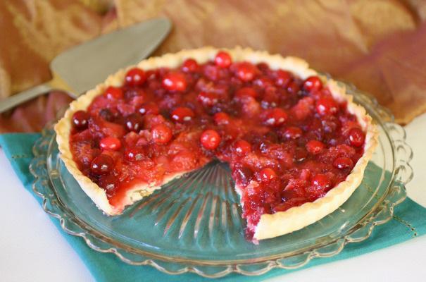 Crimson cranberry tart