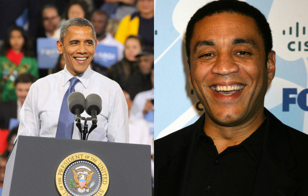 Barack Obama and Herry Lennix