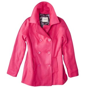 Pink peacoat