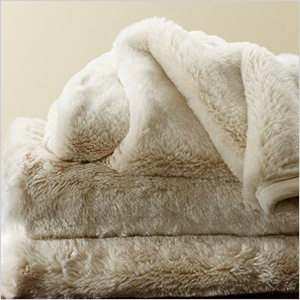 pottery barn faux throw