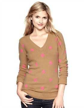 Polka dot gap sweater