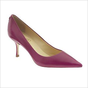 fuchsia patent leather pair