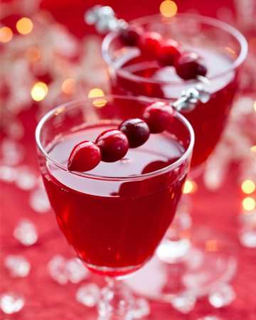 Sparkling Christmas cocktail