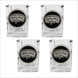 Spurs shot glasses