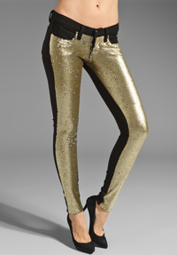 Sequined denim