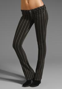 Striped denim