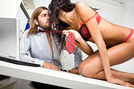 Surprising sex at the office