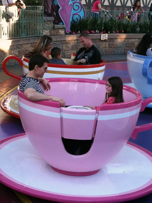 Suri and Tom at Disney