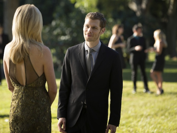 Klaus dresses up for Caroline