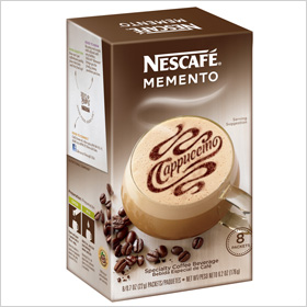 Nescafé Memento Instant Coffee, nescafeusa.com for locations, $4.50 for a box of 8