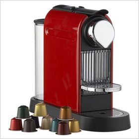 Nespresso Citiz Red Espresso Machine, crateandbarrel.com, $249.95