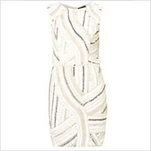 White Sequin Dress on Sequin Shift Dress