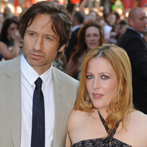David Duchovney and Gillian Anderson